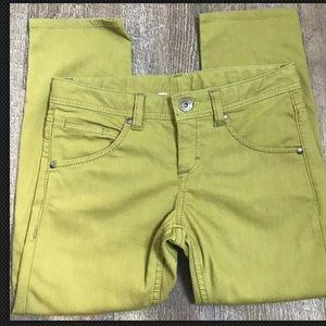 ATHLETA Frontier Capri Jeans Green Denim Cropped